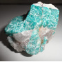 Amazonita No Quartzo Mineral Para Coleção Pedra Bruta N102