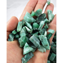 Lote De 20 Pedras Esmeralda Natural Polida
