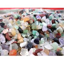 Cascalho De Pedras Semi Preciosas Decorar Fonte Aquário 6 Kg