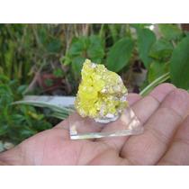 Enxofre Nativo Cristalizado - Mineral Para Coleção
