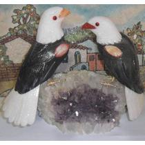 Dal Corsi Casal De Águia Feito Com Pedras Preciosas Quartzo