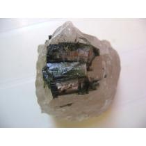 Natural Pedras Turmalina Verde No Quartzo Especial Coleção