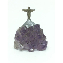 Pedra Ametista Com Cristo Redentor