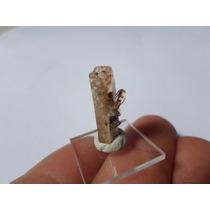 Topazio De Juab Co., Com Hematita Terminado Raro Mineral