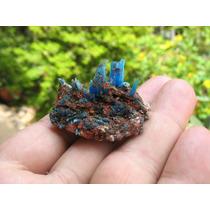 Calcantita Na Matriz - Mineral Para Coleção