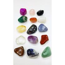 Coleção 15 Pedras Preciosas De 3cm Identificadas E C/ Manual