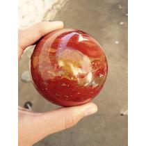 Esfera Bola Cristal De Jaspe Vermelho Quartzo Pedra Promoção