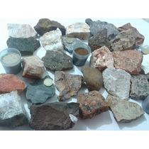 Coleção De Rochas E Minerais Especial Com 30 Unidades