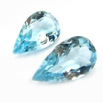 Belo Par Topázio Azul Sky Blue 10.5 Cts Pedras Naturais