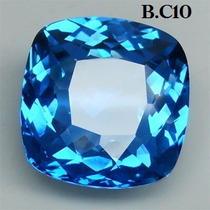 1 Excelente Lindo Oval Quartzo Azul Centáurea 13.6 Cts.