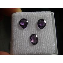 Natural Pedras Ametistas Cor Extra Para Brincos E Anel