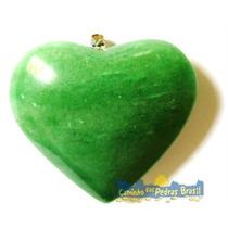 Pingente De Coração Em Pedras Sodalita, Jaspe, Quartzo Verde