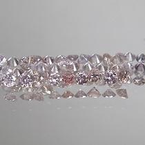 Lindo Lote Diamantes Rosa 1.11 Quilate Peso Total