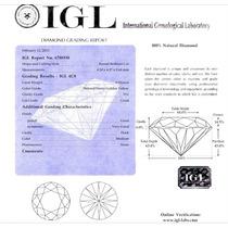 Diamante 0.32 Cts Amarelo - V S 1 - Certificado Igl - Israel