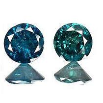 Par De Diamantes Azuis Peso Total 0.40 Cts - I1