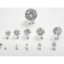 11 Pçs - Zirconias De 1 ,2,3,4,5,6,7,8,9,10 E Uma De 15mm