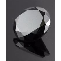 Diamante Negro Moissanite Mesa Maior Solitário