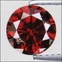 Diamante 0.41ct - Vermelho - I1 - Lapidação Brilhante