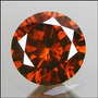Diamante 0.37ct - Laranja - Si2 - Lapidação Brilhante