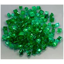Lote Com 10! Esmeraldas Verde Intenso Africanas Naturais!
