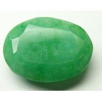 Esmeralda 100% Natural Oval Verde Alface 5.95 Cts!