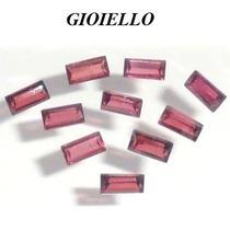 Leilão Lote 10 Gemas Rodolita Baguette Natural G735