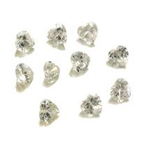 Lote Pedras Preciosas 10 Zircônias Brancas J14450