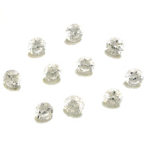 Lote De 10 Pedras Preciosas Zirconias Brancas J14333