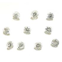 Lote De 10 Pedras Preciosas Zirconias Brancas J14329