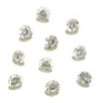 Lote De 10 Pedras Preciosas Zirconias Brancas J14328