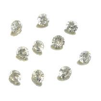 Lote Pedras Preciosas 10 Zircônias Brancas J14320
