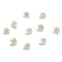 Lote De 10 Pedras Preciosas Zirconias Brancas J14331