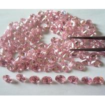 Zirconia Rosa - 50 Pedras.