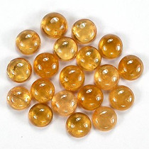 Granada Espessartita (laranja-amarela) Cabochao -lote 50 Cts
