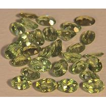 Rsp 2066 Peridoto Oval 6x4mm Preço Por Pedra Com 0,65 Ct