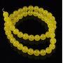 Jade Amarelo Bola Esfera Lisa 8mm Teostone Colar 40cm 1121