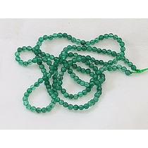 Jade Verde Esmeralda Bola Esfera Lisa 2mm Colar Teostone 830