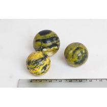 3 Esferas De Pedras Preciosas (serpentinita)