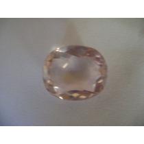 Linda Pedra De Quartzo Rosa Claro Lapidado Na Forma Oval