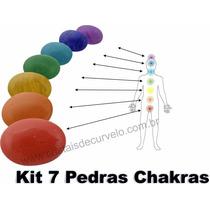 Kit Chakras 7 Pedras Cabochão Leve Pedras Extras E Lapidadas