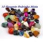 10 Pingente Pedras Natural Rolado Misto Dourado Frete Barato