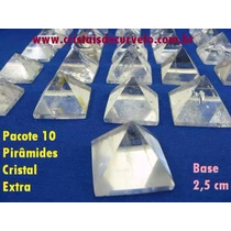 10 Piramide Pedra Cristal Semi Transparente B Queops 2.5 Cm