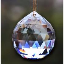 Esfera Bola De Cristal Multifacetada P/ Feng Shui 50mm Linda