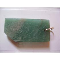 Natural Pedras Pingente De Quartzo Verde Com Prata Belíssimo