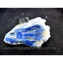 Cianita Azul Canudo Natural Pedra De Colecionador Cod 127.3