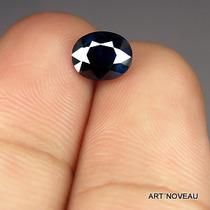 Safira Cor Azul Profundo Totalmente Natural 7mm