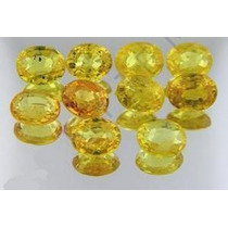 Lindo Lote Com 10 Safiras Amarelas - Peso Total 4.47 Cts.