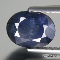 Safira Azul Escuro Oval De Original 100% Natural Asia