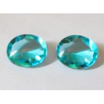 Cristal Topázio Azul Cabochão 13 X 11 - 2 Pedras