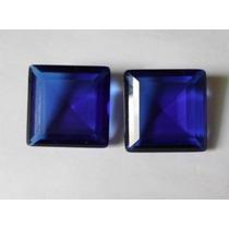 Cristal Safira Azul 20 X 20 - 2 Pedras